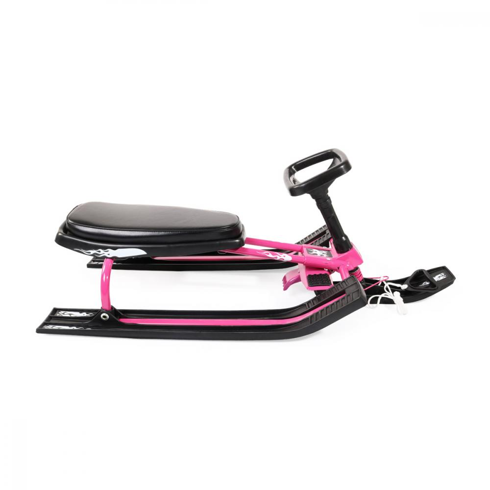 Saniuta cu volan pentru copii Snowy Pink
