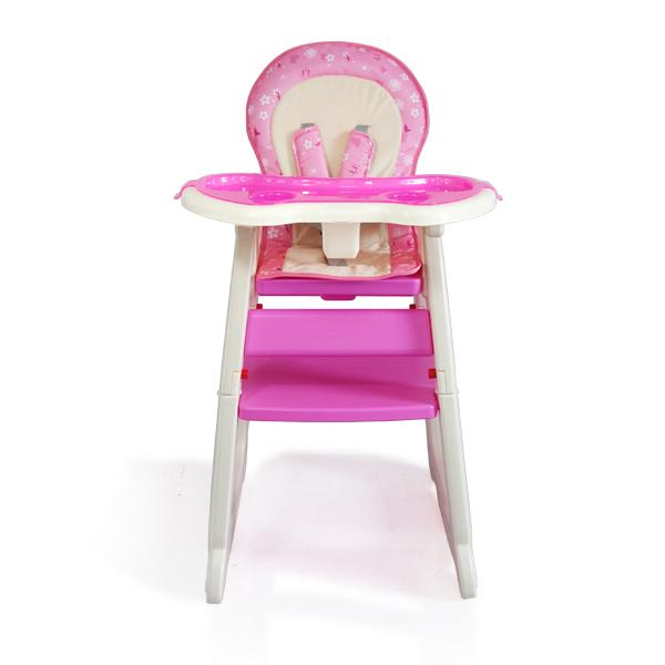 Scaun de masa multifunctional Baby Place Mamakids Roz cu Fluture