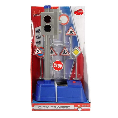 Semafor City Traffic cu semne rutiere Dickie Toys
