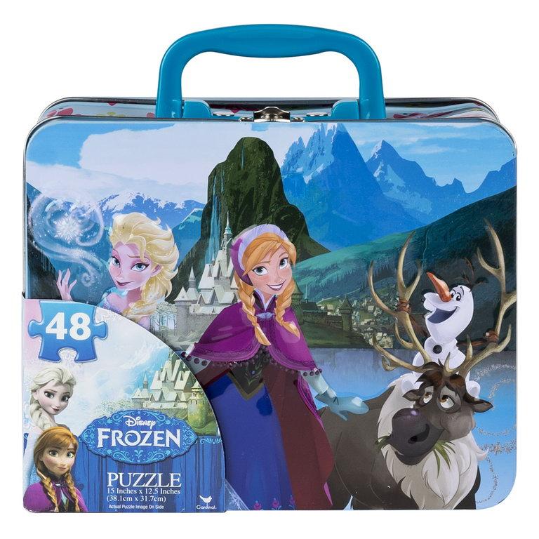 Set 2 puzzle-uri 3D Frozen cu gentuta metalica