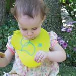 Bavetica reglabila din silicon Silikids Lime