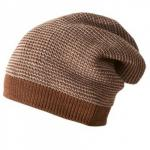 Caciula din lana merino tricotata Disana Hazelnut/Grey Melange 3