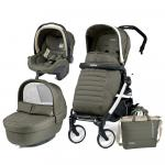 Carucior 3 in 1 Peg Perego Book Plus 51 Black&White Breeze Kaki