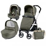 Carucior 3 in 1 Peg Perego Book Plus S Black&White Breeze Kaki