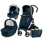 Carucior 3 in 1 Peg Perego Book Plus 51 S Black&White Breeze Blue