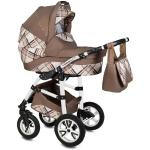 Carucior Flamingo Easy Drive 3 in 1 Vessanti Brown
