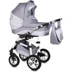 Carucior Flamingo Easy Drive 3 in 1 Vessanti Light Gray