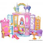 Castelul curcubeu Barbie + Cadou Papusa Barbie Dreamtopia Fairy Doll