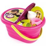 Cos picnic Masha and The Bear si set vesela cu 21 accesorii Smoby