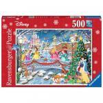 Puzzle Craciunul Printeselor Disney 500 piese
