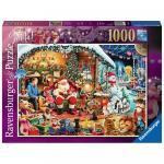Puzzle vizita lui Mos Craciun 1000 piese