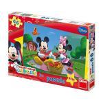 Puzzle La picnic cu Mickey si Minnie 66 piese