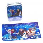 Puzzle 3D Frozen in cutie metalica 48 de piese