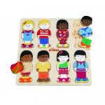 Puzzle din lemn - micii prieteni