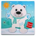Puzzle din lemn Label Label Urs Polar