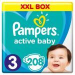Scutece Pampers Active Baby XXL Box Marimea 3 6 -10 kg 208 buc