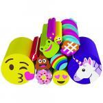 Set Rezerva Betisoare Colorate Cutie Stix cu Emoji