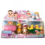 Set de Joaca Baby Secrets cu cadita balansoar ratusca si 3 figurine bebelus