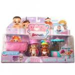 Set de Joaca Baby Secrets cu cadita cescuta rotativa si 3 figurine bebelus