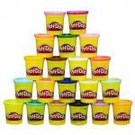 Super Set colorat cu 20 de cutii Play Doh