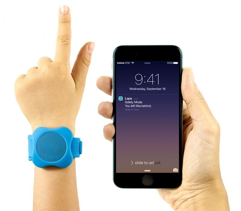 Bratara din silicon pentru Localizator bluetooth Lapa dispozitiv de urmarire copii Albastru