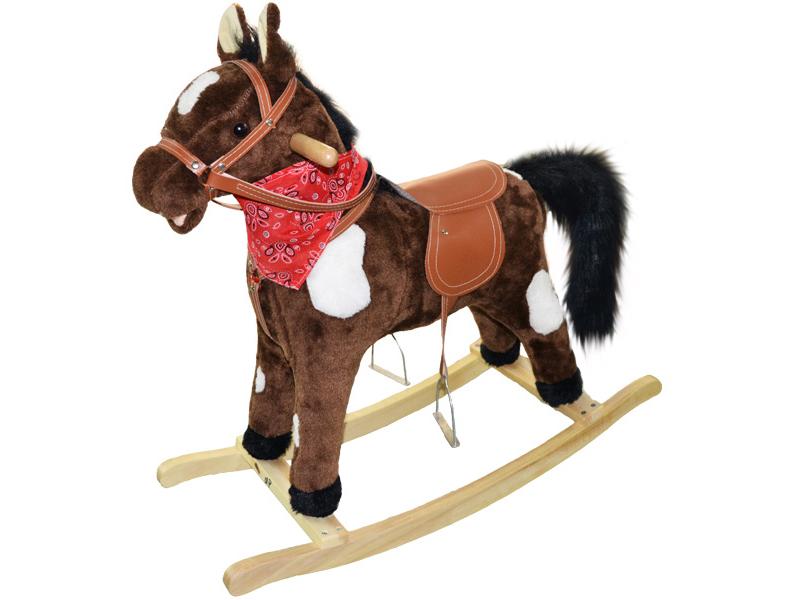 Calut balansoar pentru copii plus maro inchis cu pete imagine