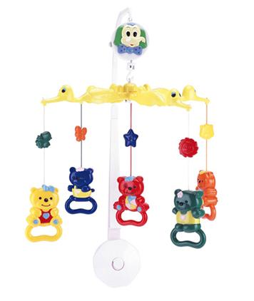 Carusel musical plastic ursuleti imagine