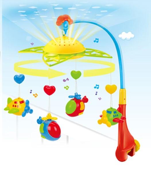 Carusel muzical univeral cu lumini Fairyland Plane