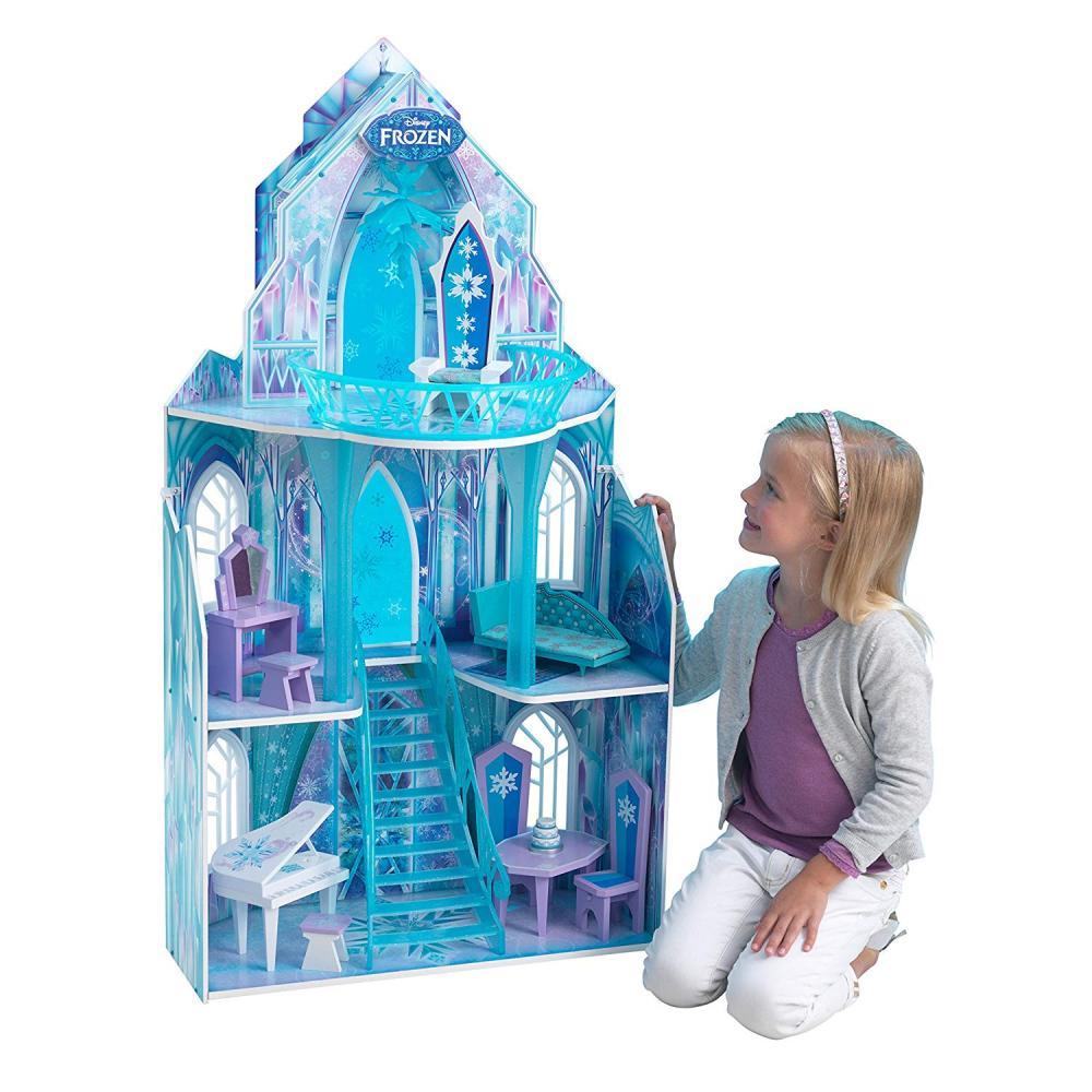 Casuta din lemn pentru papusi Castelul Frozen Kidkraft
