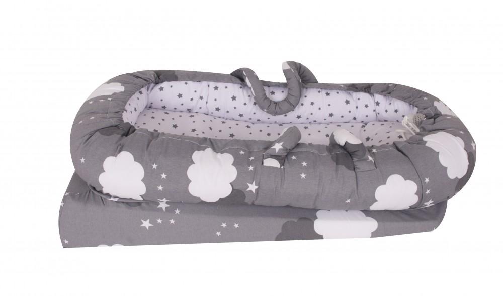 Co-sleeper anti-reflux Nest Grey Stars Sevibaby