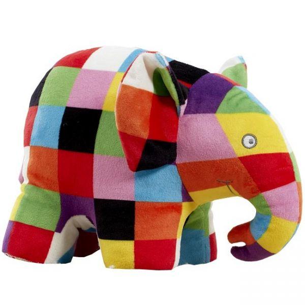 Jucarie din plus cu sunete Elefantul Elmer 20 cm