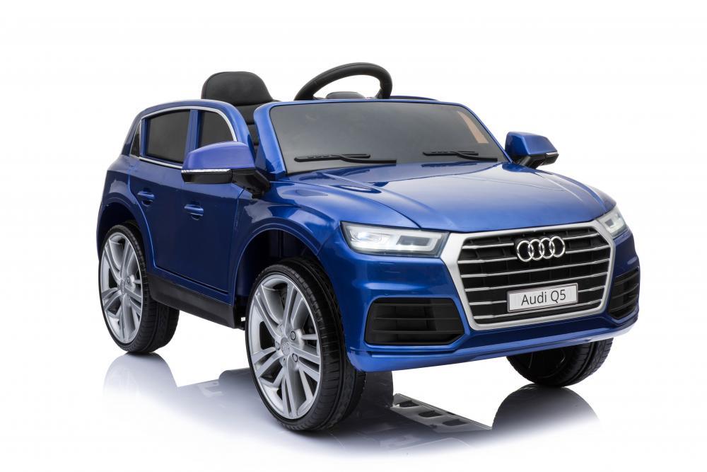 Masinuta electrica Audi Q5 cu scaun de piele Blue imagine