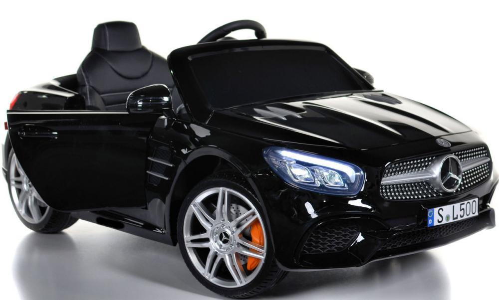 Masinuta electrica cu roti din cauciuc Mercedes Benz SL500 Black