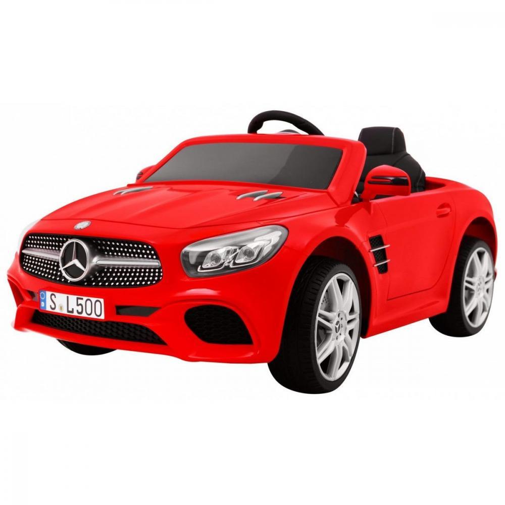 Masinuta electrica Mercedes Benz SL500 cu scaun de piele Red imagine