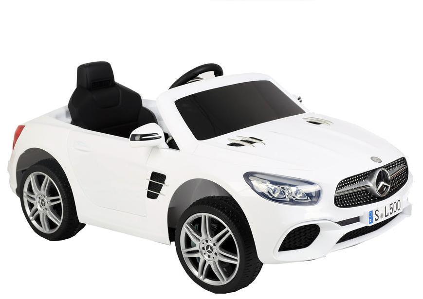 Masinuta electrica Mercedes Benz SL500 cu scaun de piele White