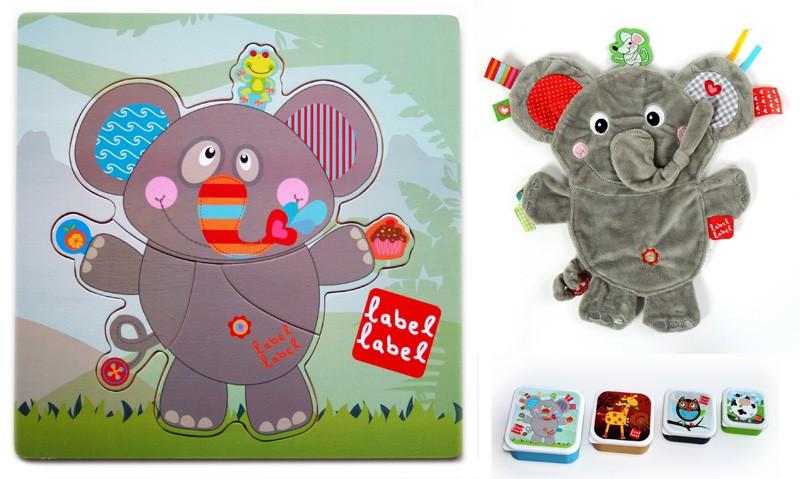 Pachet 2 Label Label minipaturica puzzle si 4 cutii sandwich Produsul 1 Elefant