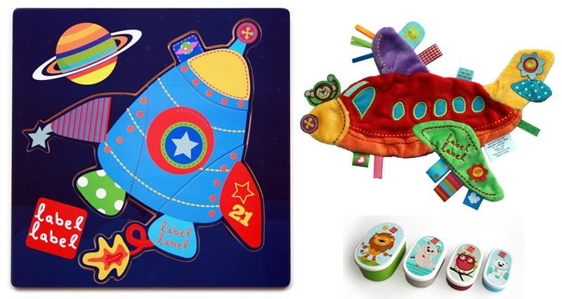 Pachet 2 Label Label minipaturica puzzle si 4 cutii sandwich Produsul 1 racheta si avion