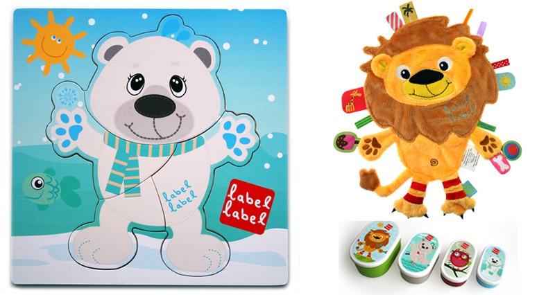 Pachet 2 Label Label minipaturica puzzle si 4 cutii sandwich Produsul 1 urs polar si leu