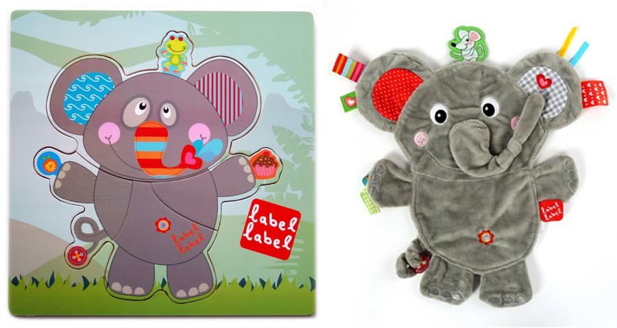 Pachet Label Label minipaturica puzzle produsul 1 Elefant