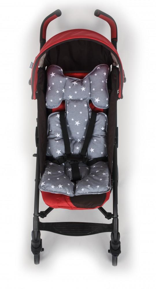 Protectie textila pentru caruciorscaun Grey Stars