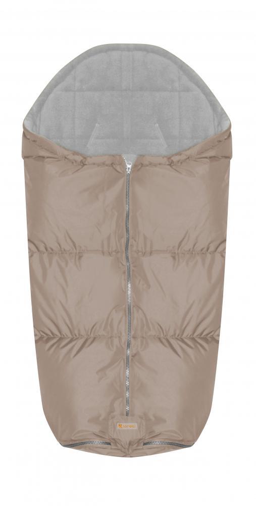 Sac termic de iarna impermeabil pentru carucior cu captuseala polar fleece Beige