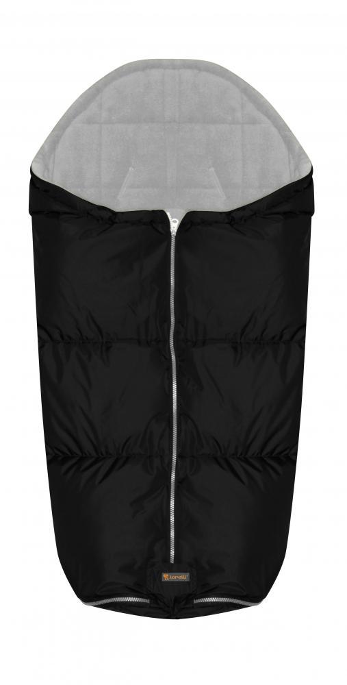 Sac termic de iarna impermeabil pentru carucior cu captuseala polar fleece Black