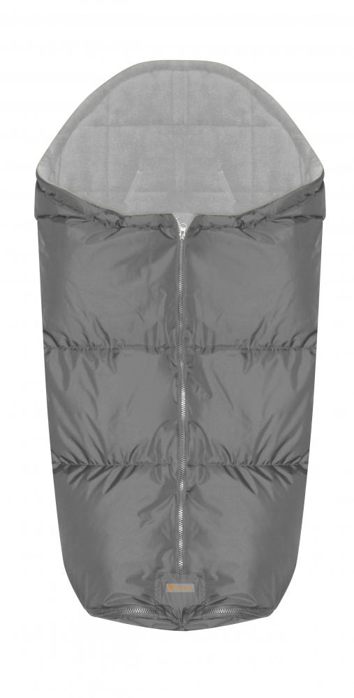 Sac termic de iarna impermeabil pentru carucior cu captuseala polar fleece Grey