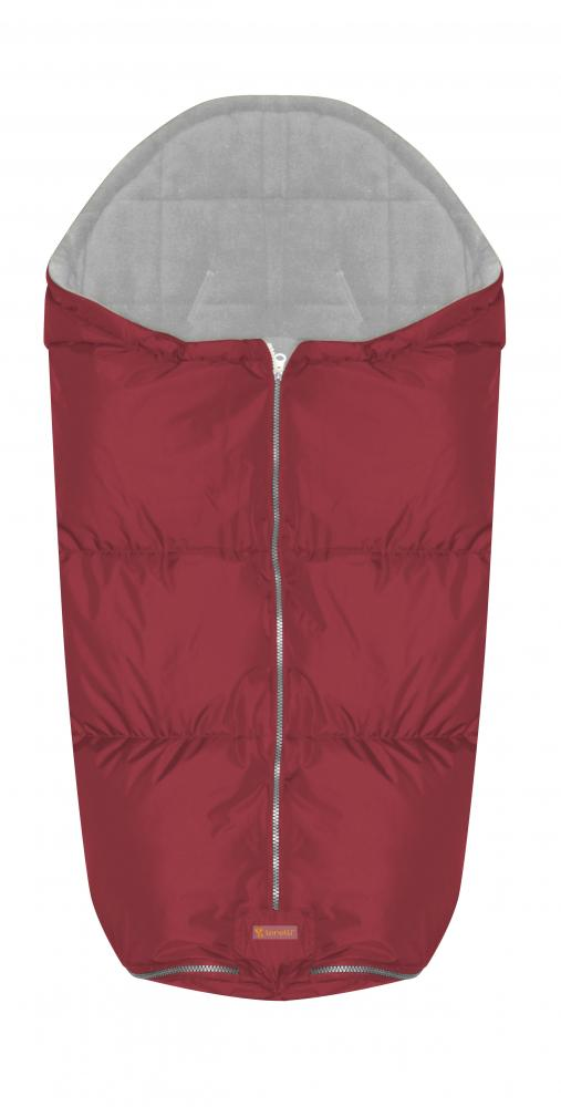 Sac termic de iarna impermeabil pentru carucior cu captuseala polar fleece Red