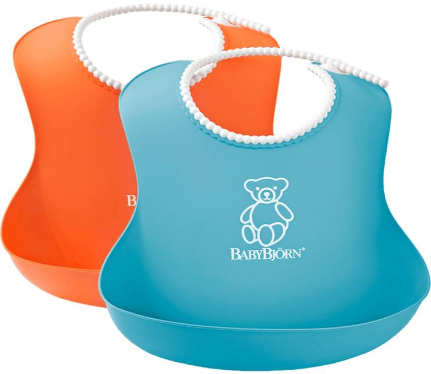Set 2 bavete Soft Bib OrangeTurquoise BabyBjorn