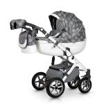 Carucior 3 in 1 Contempo White Grey