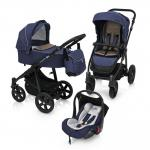 Carucior multifunctional 3 in 1 Baby Design Lupo Comfort 03 Navy 2018