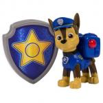 Figurina Si Insigna Paw Patrol Chase Politist 6