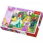 Puzzle Trefl 30 Rapunzel Merida Ariel si Alba ca Zapada