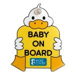 Semn auto de avertizare Baby on board Duck